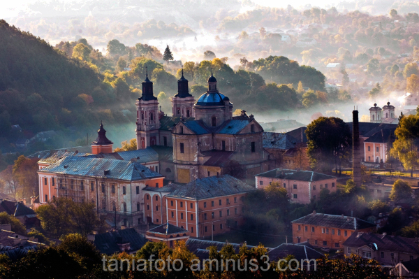 THE TOWN OF KREMENETS  UKRAINE AT SUNRISE
