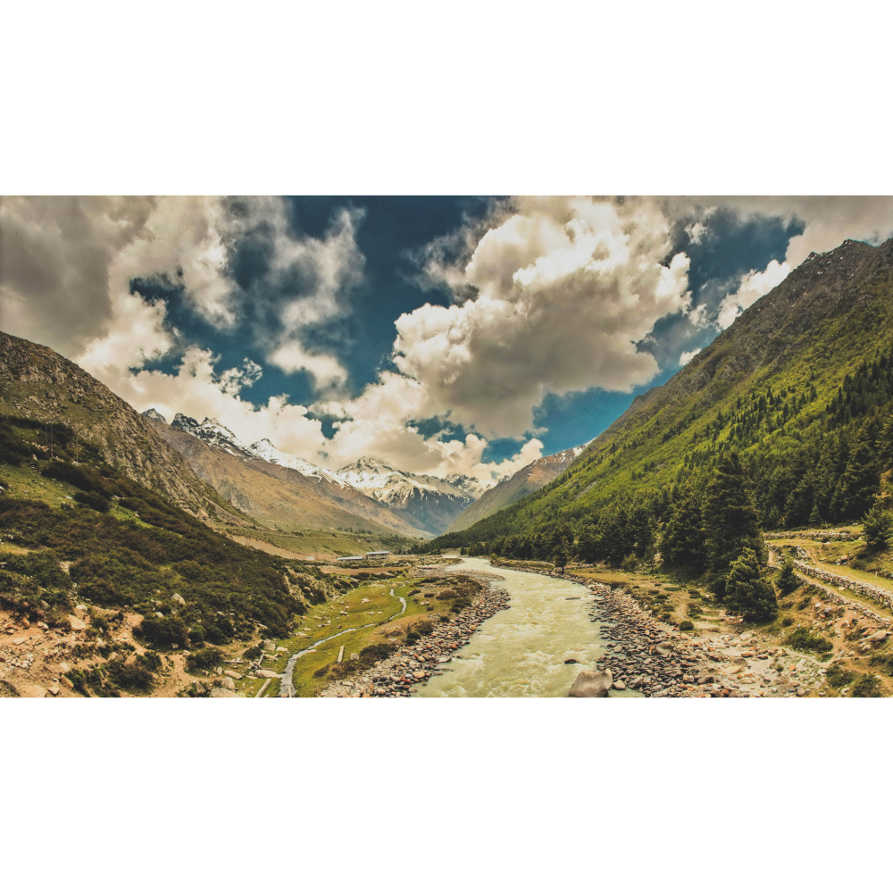 A view of the Sangla Valley in Kinnaur, India.
