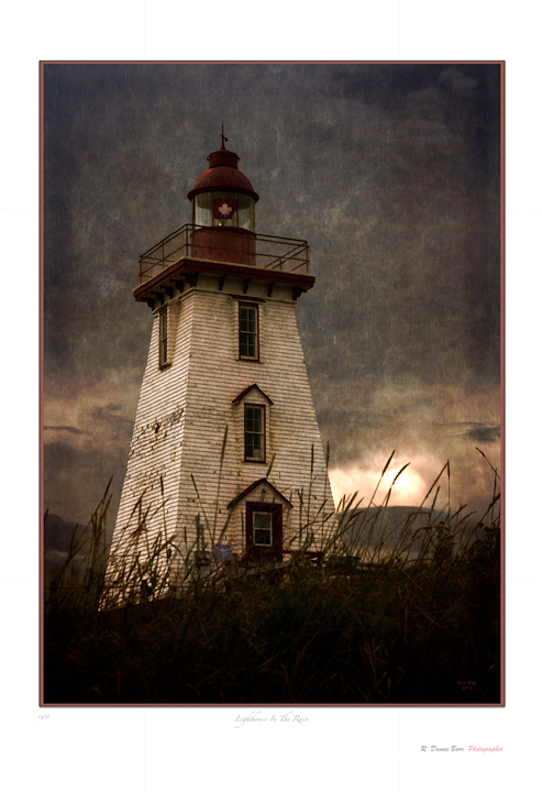 Lighthouse In The Rain