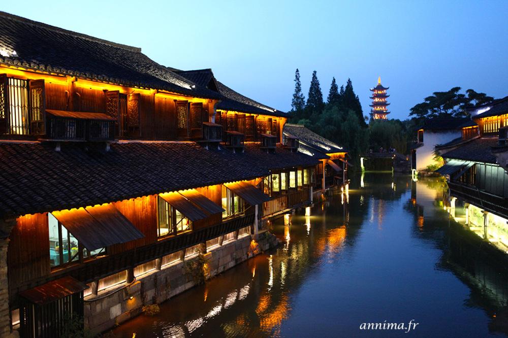 village de pêcheur chinois