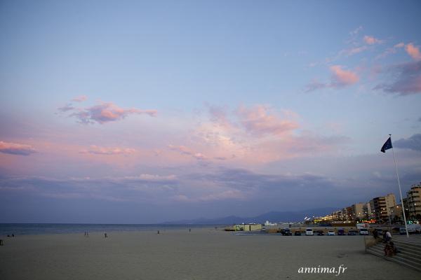 seaside, sunset