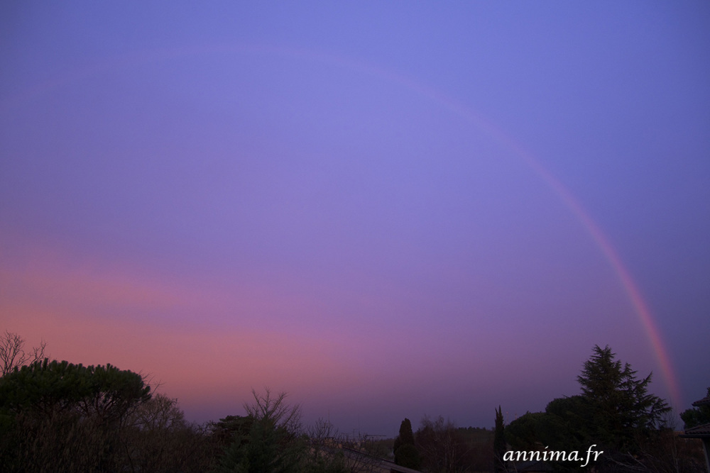 RAinbow, sunrise
