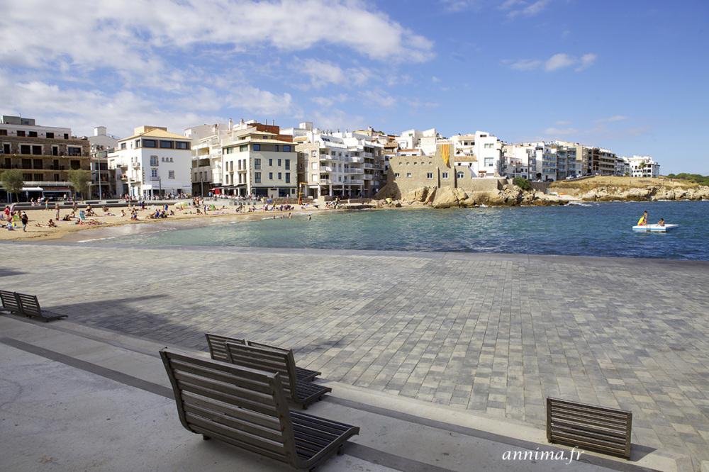 sea, bench, mer, mediterrannean