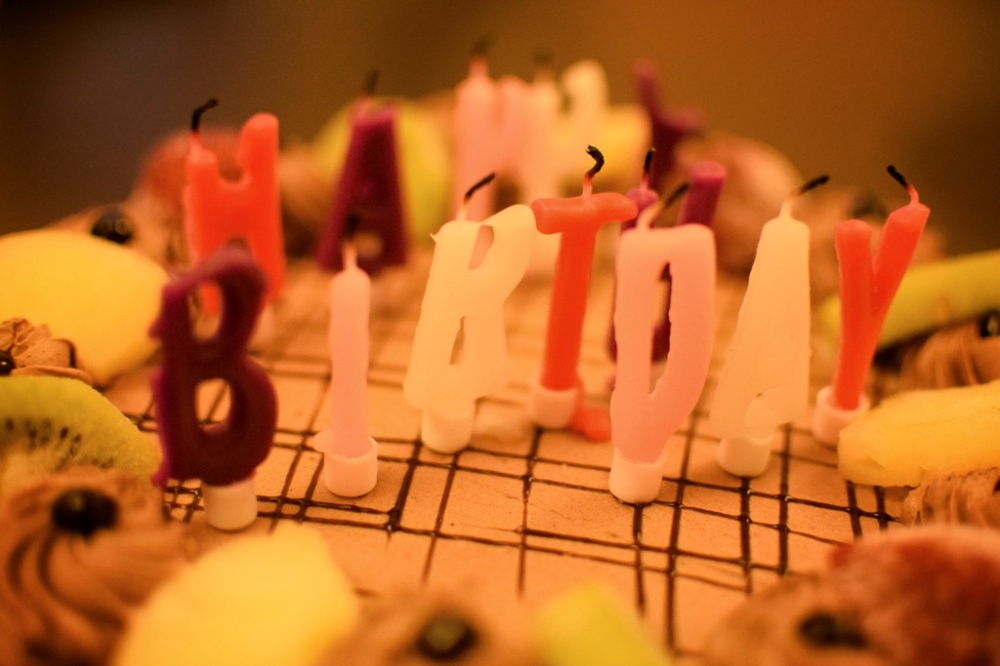 blew the candles out...happy birthday to me! :)