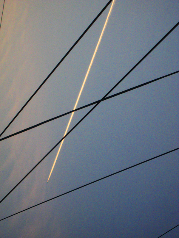 Plane falling thrue lines