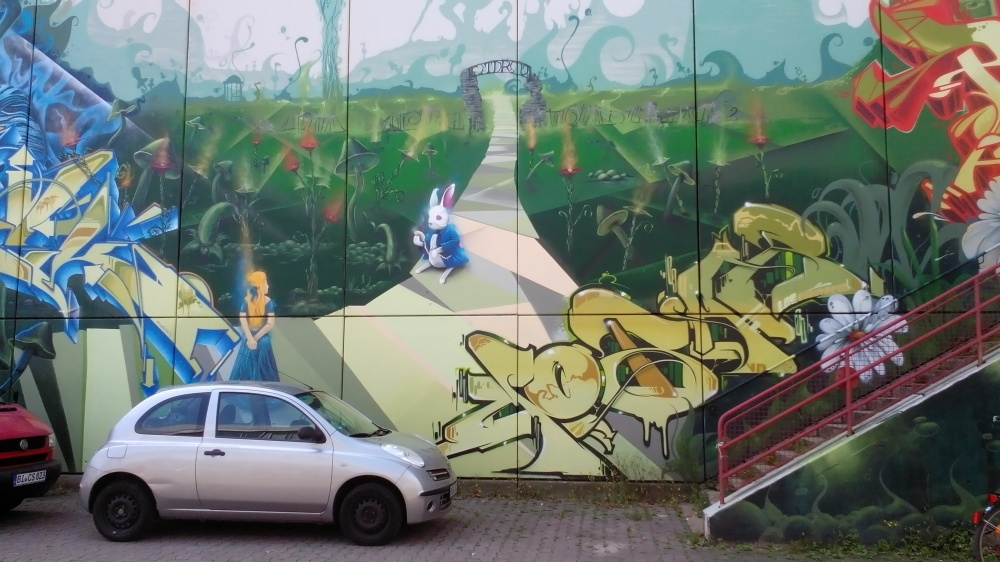 Alice in Wonderland Graffiti, University Bielefeld