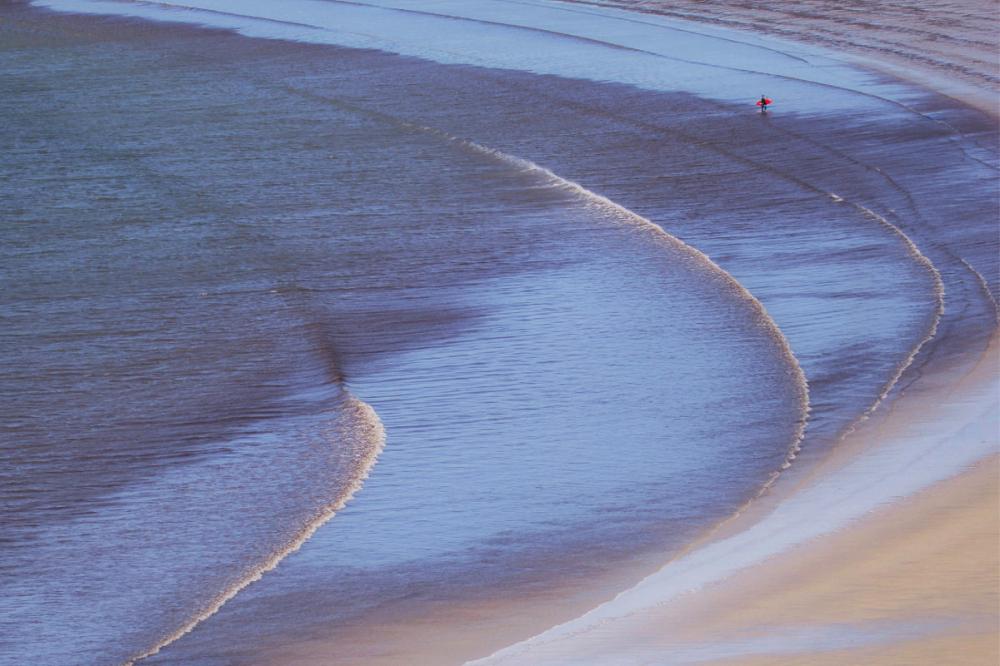 Dans les vagues et le vent....