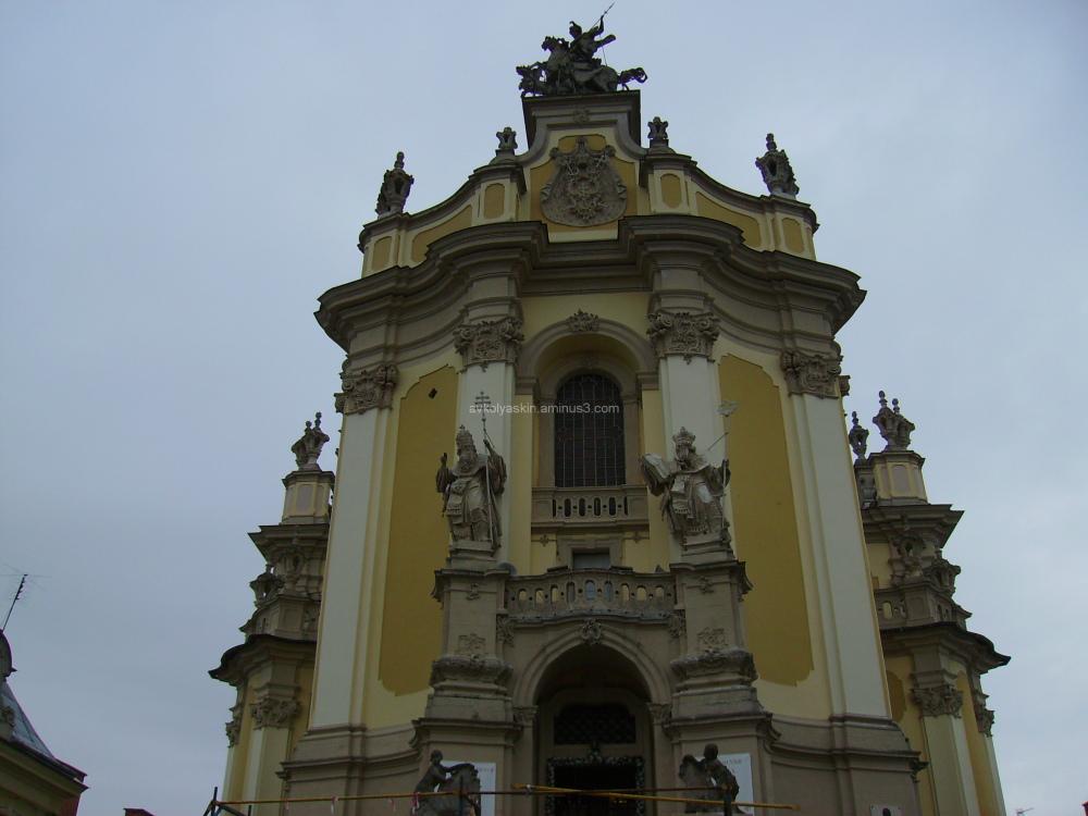 Facade  of  the  Saint  Jur  Temple  in  Lviv