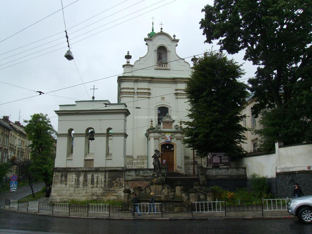 Greek - catholic  temple in  Lviv