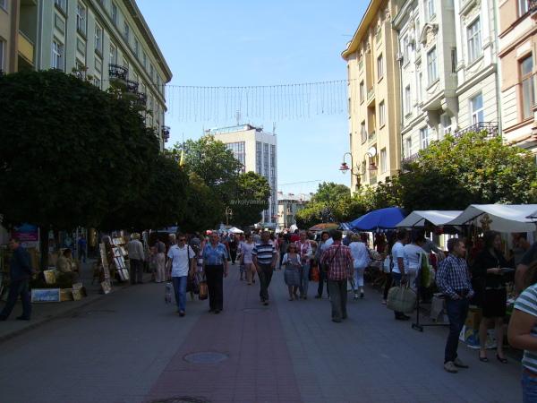 Independence  Street  of  Ivano - Frankivsk