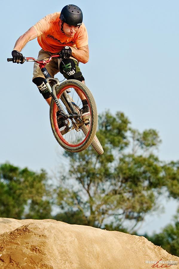man bicycle dirt bike biking recreation sport