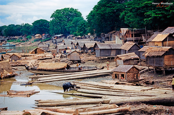Myanmar Burma Mandalay Traditional logging village