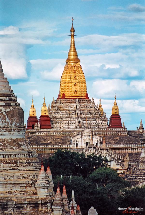 Myanmar, Burma, Bagan, Ananda Pahto temple