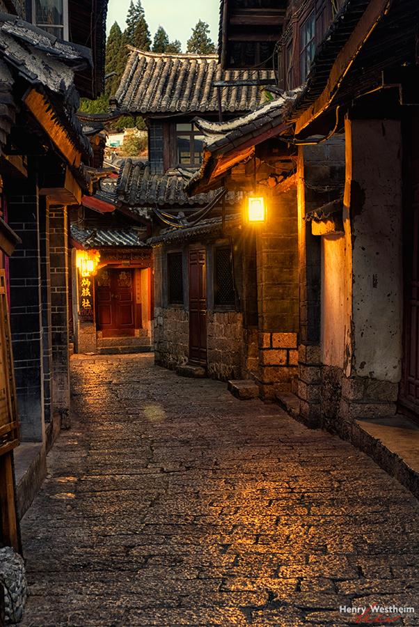 China, Lijiang Old Town street, Yunnan Province