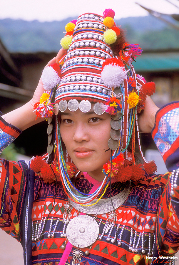 Thailand, Girl in Hmong Hill Tribe Clothes