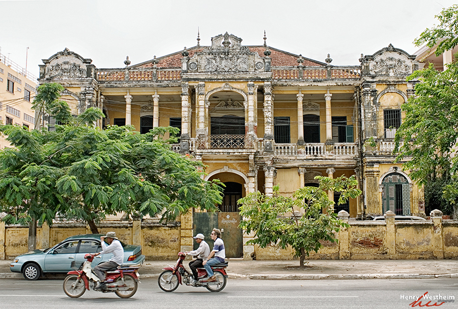 Cambodia, Phnom Penh, French Colonial Architecture