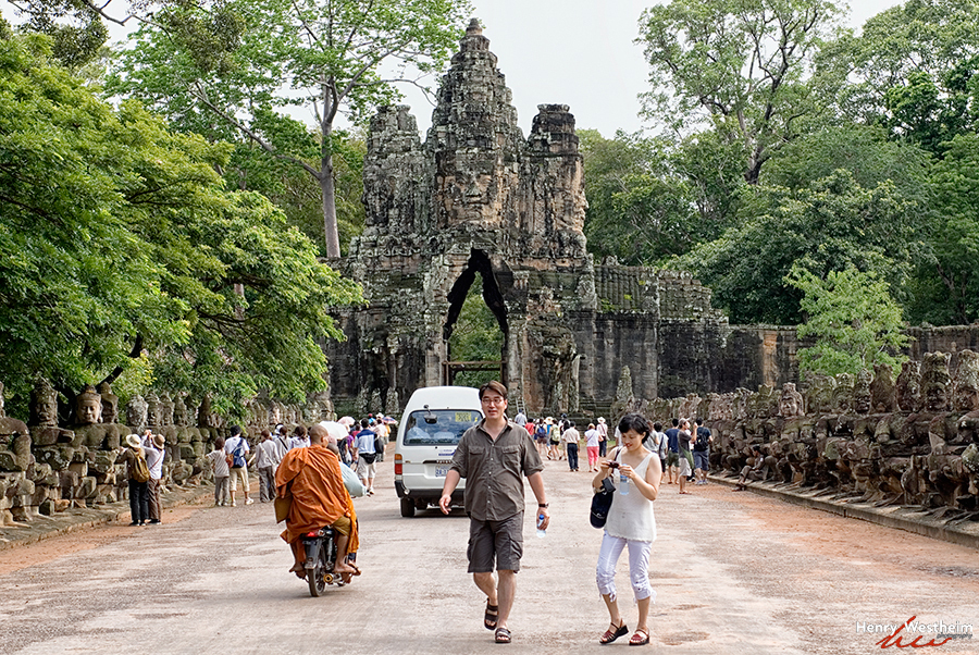 Cambodia, Angkor Thom, South Gate, Siem Reap