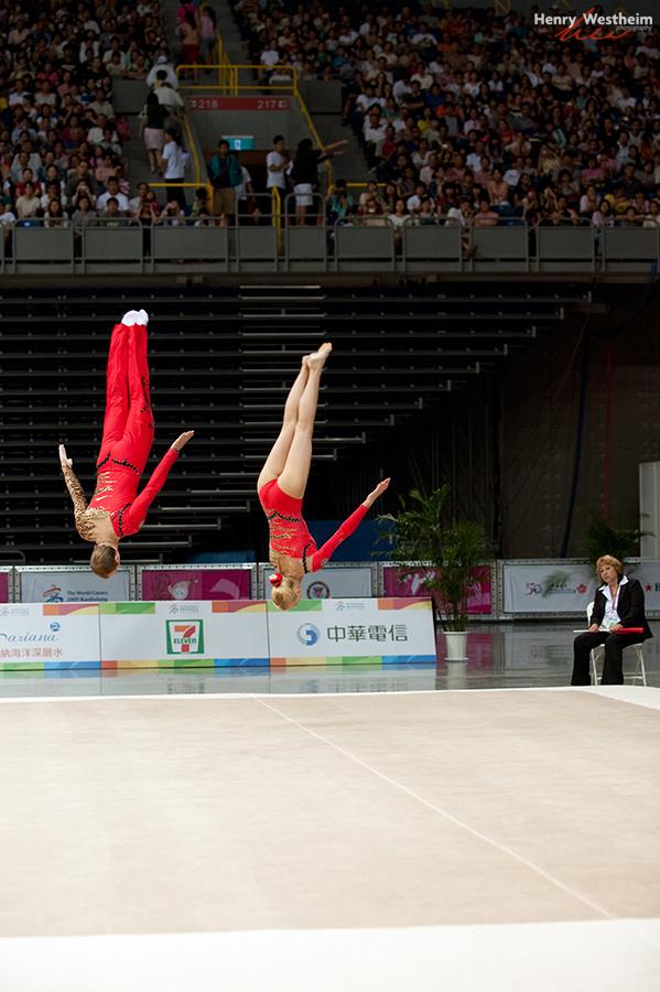 Gymnastics Acrobatics Mixed Pair competition
