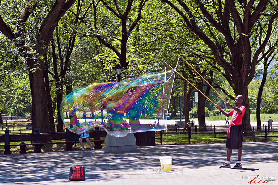 Giant Bubble, Central Park, New York City, NYC
