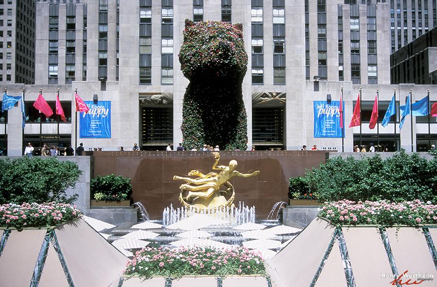 Rockefeller Center Plaza, New York City, NYC