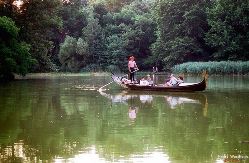 Central Park gondola boat ride, New York City, NYC