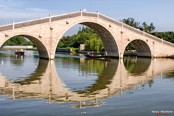 China, Suzhou, Stone bridge over the Grand Canal