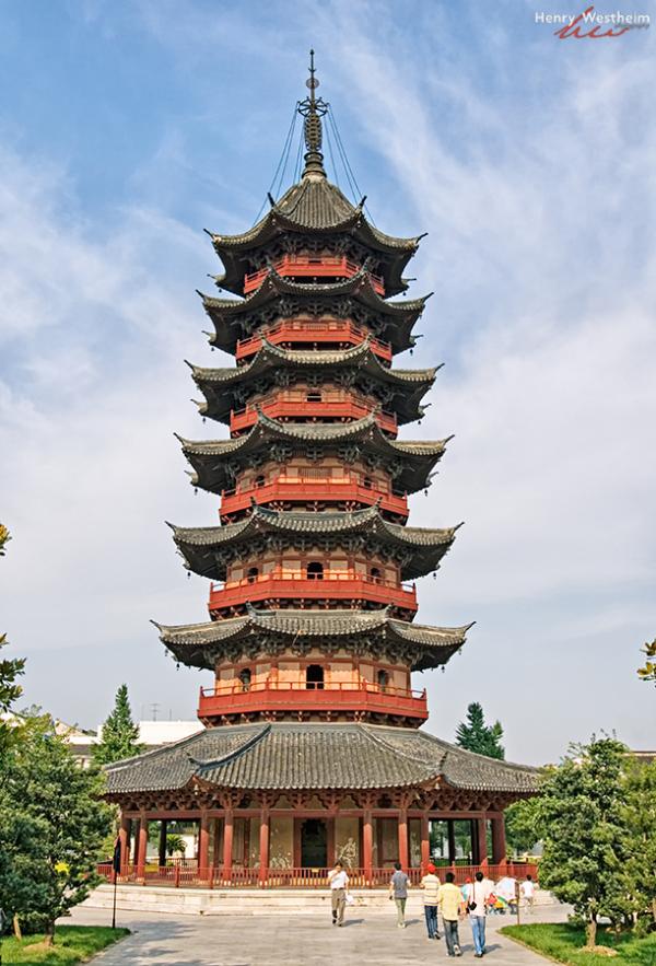 China, Suzhou, Panmen Gate Auspicious Light Pagoda