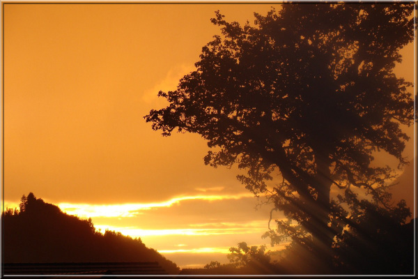 sunset at Morillon (Haute-Savoie)