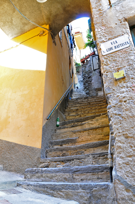sloping street of Vernazza