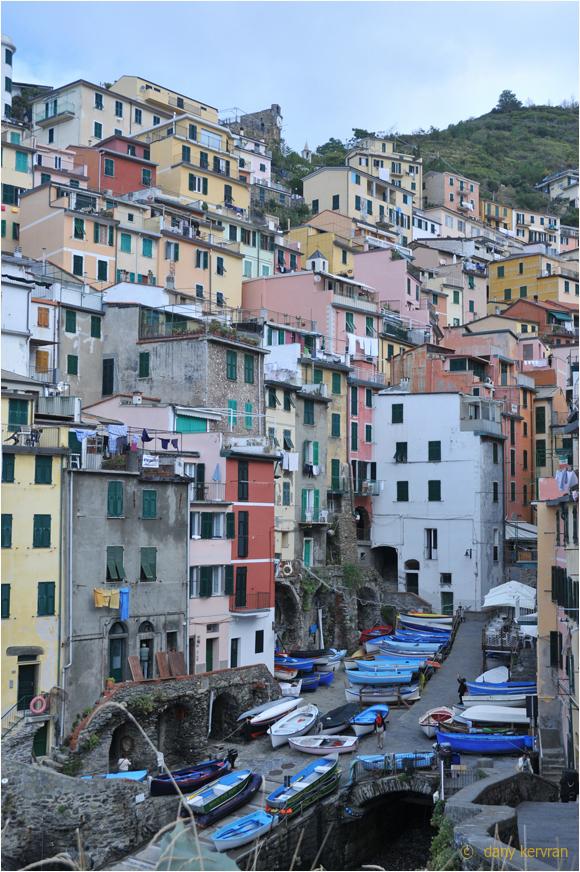 street of Riomaggiore (Italy)