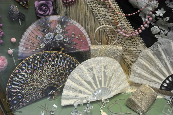 fans in a shop window