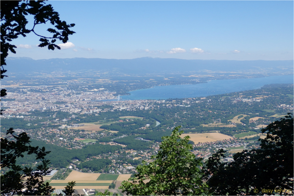 view towards Geneva from Salève mountain