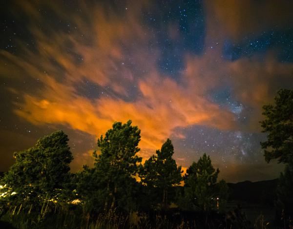 Black Hills At Night