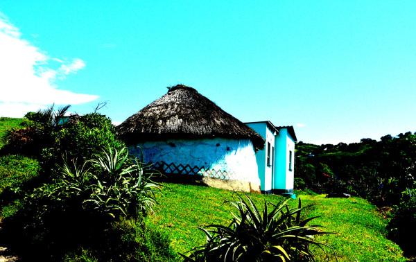rural villager hut along wild coast