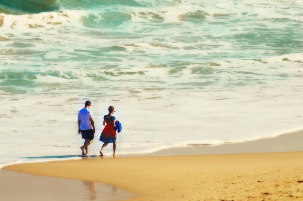 Walking Couple Sardinia Bay Port Elizabeth