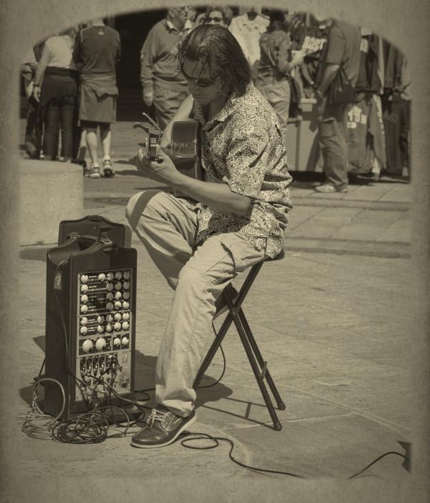 Street Musician, Boston, MA
