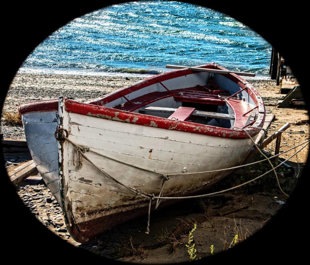 Retired Boat. Hull Gut Massachusetts.