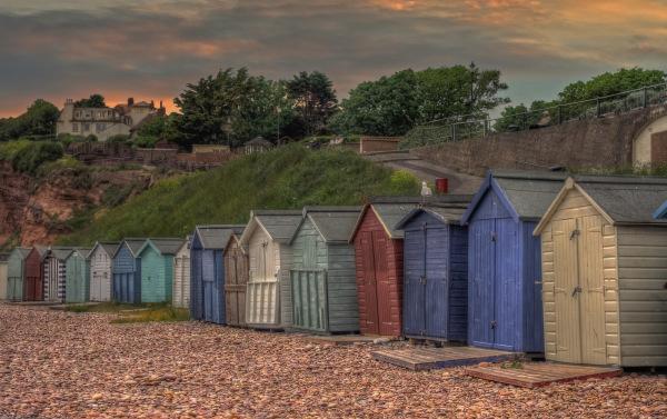 Beach Huts. Sidmouth Devon