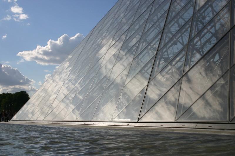 Pyramid and water