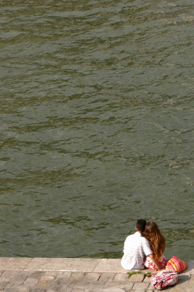 Lovers by the Seine