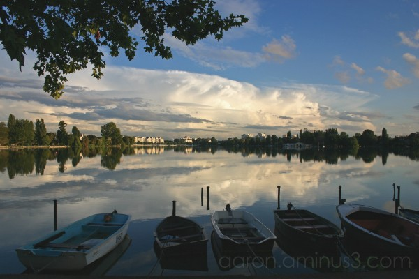 Storm clouds over Enghien Lake