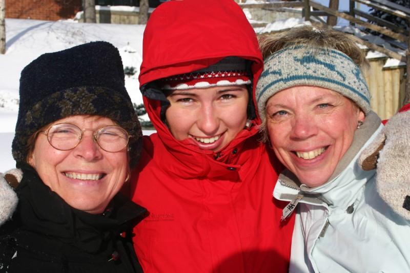 Wendy, Aurélie, and Jill