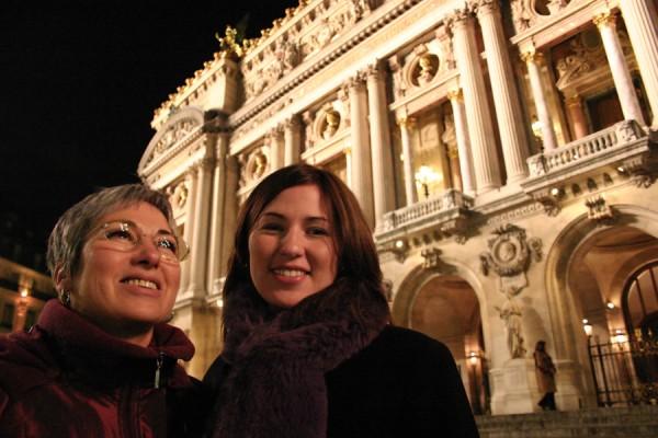 Jeanette and Aurélie at l'Opéra