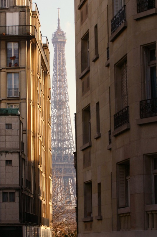 Eiffel Tower in the middle