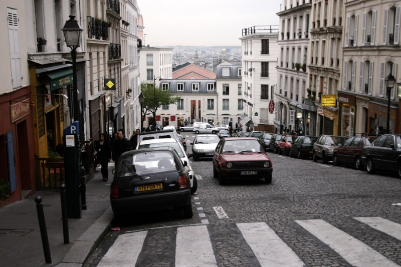 Parked on the hill in Montmartre