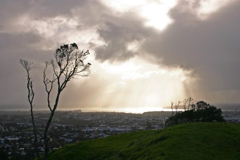 Rays of sun through the rain