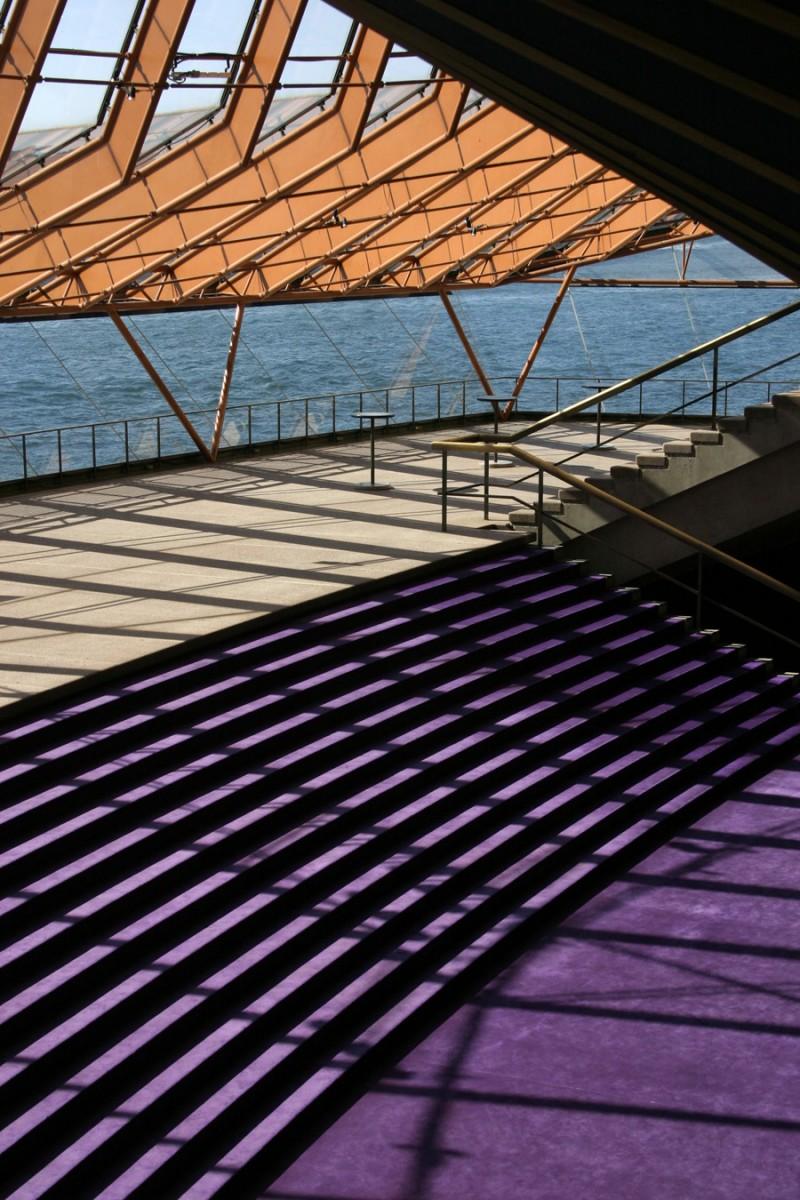 Orange and purple inside the Opera House