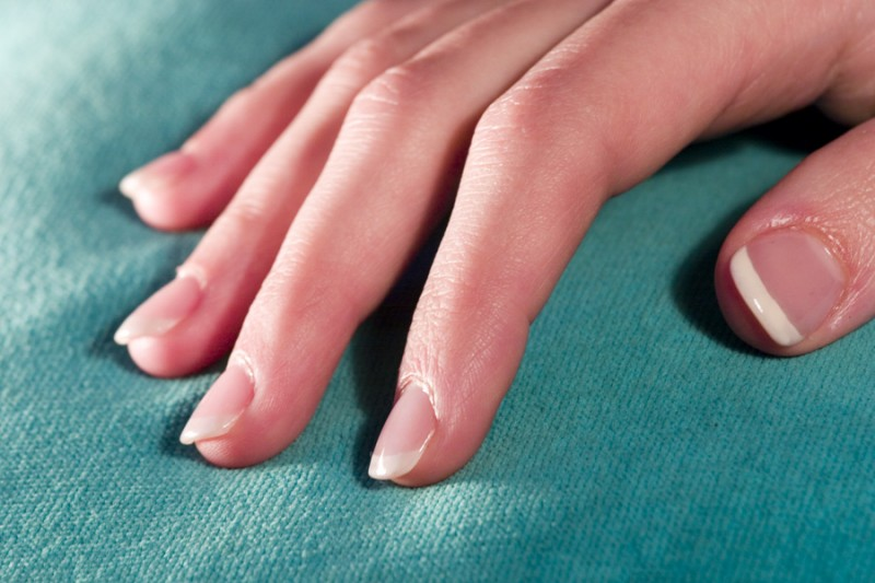 Acrylic nails on display