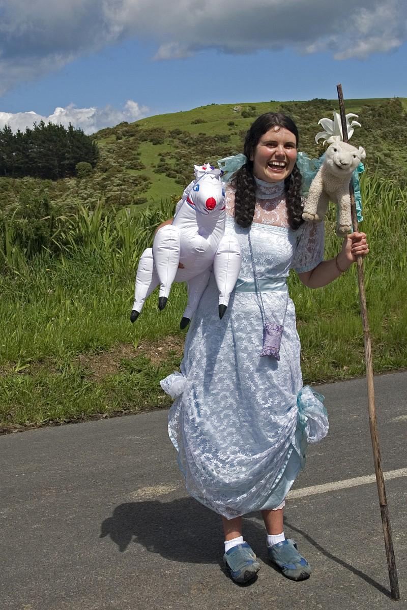 Crazy sheep woman