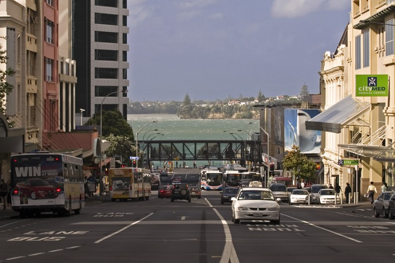 A view down Albert Street, Auckland